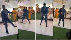 See how man 'scatters' dance floor at wedding ceremony with 'gbese' moves (video)