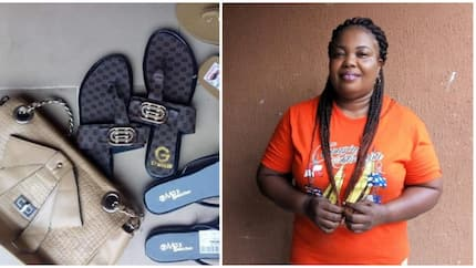 Excited Nigerian mother narrates how her 3 children saved lunch money to surprise her with gifts on her birthday (photos)