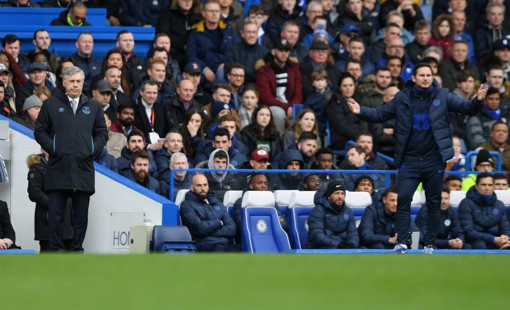 Frank Lampard and Ancelotti