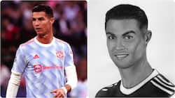 Talented female Ghanaian artiste draws and paint beautiful portrait of Cristiano Ronaldo using a pencil