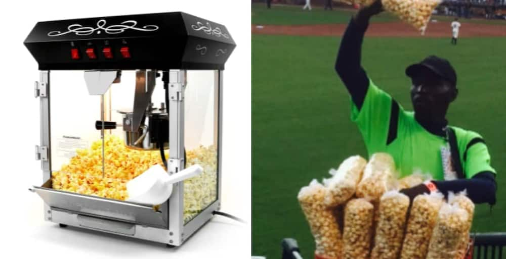 A Ghanaian man who Resorted to Selling Popcorn due to Unemployment is Forced to Sell his Machine