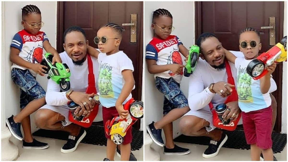 Actor Junior Pope accused of leading his kids astray for plaiting their hair