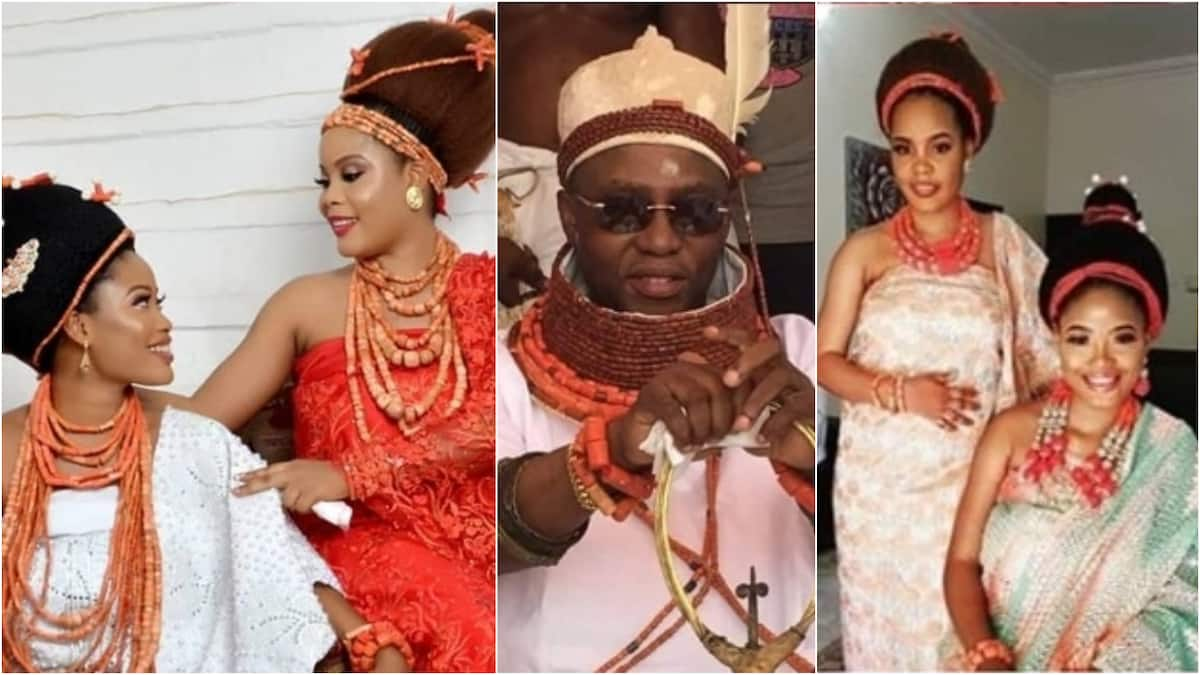 Two beautiful sisters become co-wives, happily married to Oba of