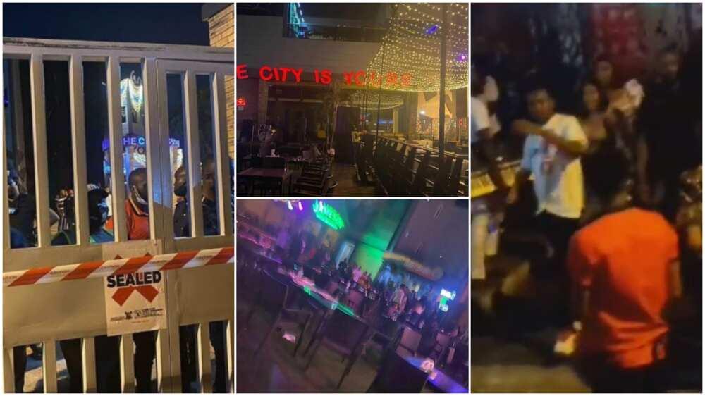 Lagos state govt shuts Cubana nightclub, policemen orders club goes out
