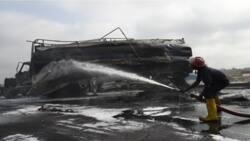 Breaking: Many vehicles burnt as tanker explodes on Lagos-Ibadan expressway