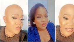 Gorimapa: Actress Toyin Abraham 'goes bald' as she debuts new look on social media, fans react