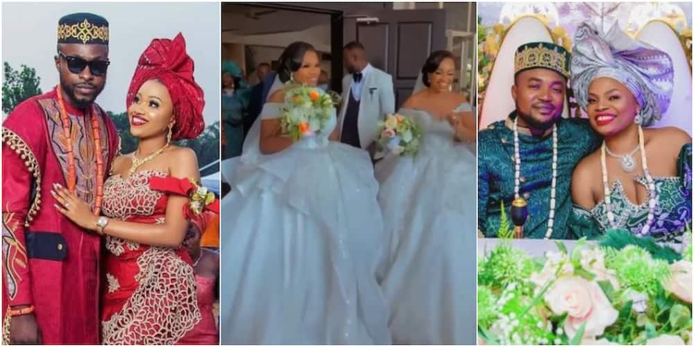Beautiful photos as Nigerian twin sisters get married on the same day