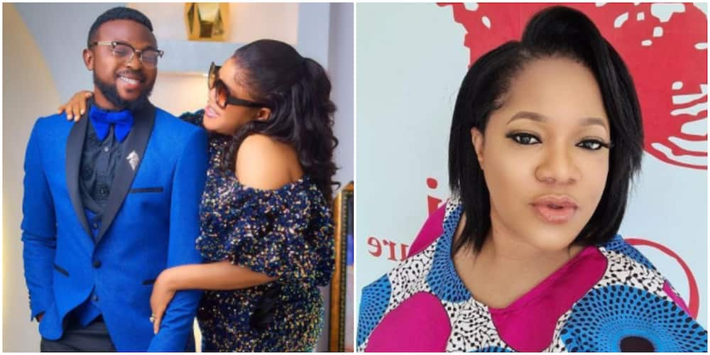 Fans Heave a Sigh of Relief as Toyin Abraham's Hubby Shares Video to Confirm That She's Getting Better