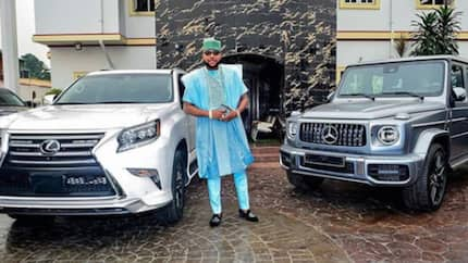 Millionaire E-Money flaunts Lexus and Mercedes G-Wagon cars in new photo, says there is nothing God can not do