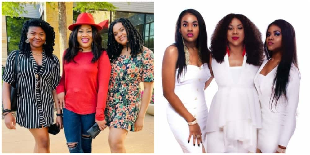 Stella Damasus shares cute photos with lookalike daughters as she celebrates Mother's Day