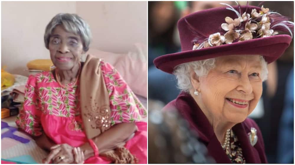 Massive reactions as Nigerian lady shares picture of her grandma who is same age with Queen Elizabeth