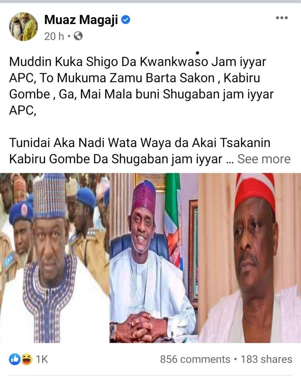 Sheikh Kabir Gombe yayi barazanar shigar Muazu Magaji kotu kan kiransa dan APC