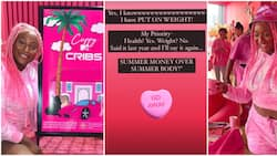 Troll complains about DJ Cuppy's added weight as she displays pink penthouse on MTV Cribs, she replies