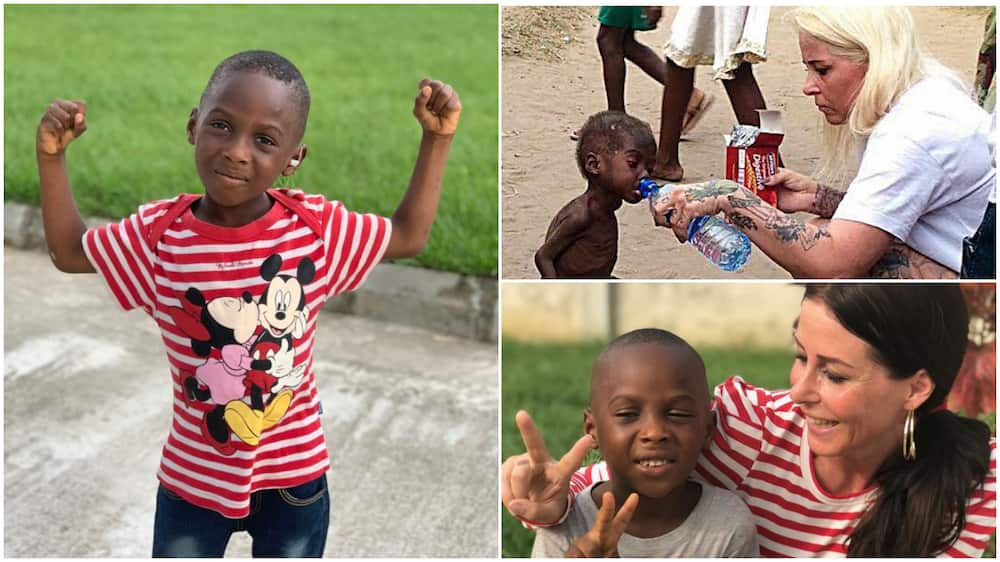 Boy who was left to starve finally wins in life, his new photos go viral