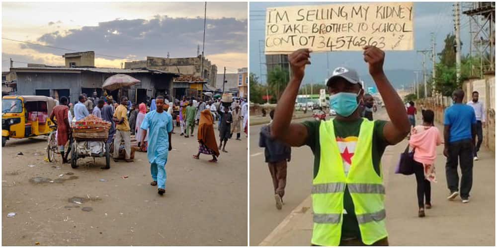 Social media reacts as man takes to the street to sell kidney so younger brother can attend university