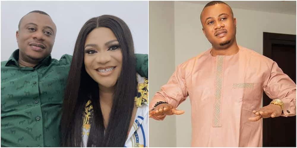 Actress Nkechi Blessing and her husband