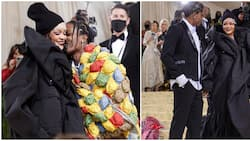 Rihanna and A$AP Rocky turn heads at Met Gala with high fashion Balenciaga couture outfits