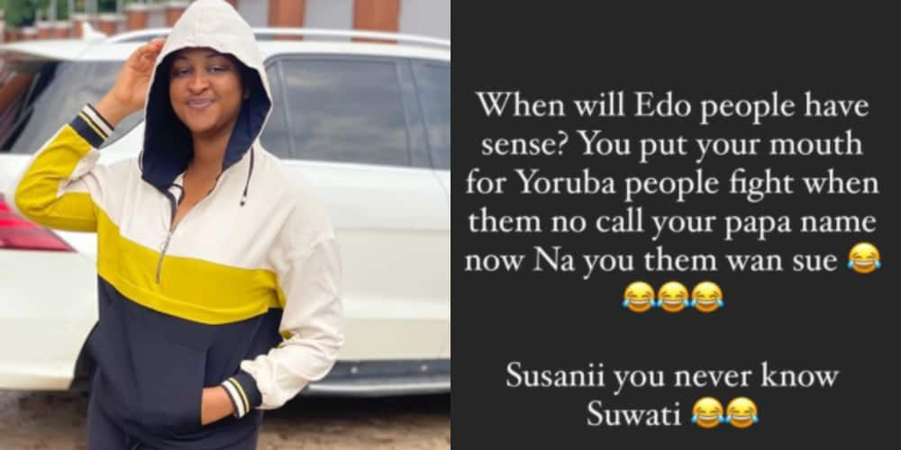 When will Edo people have sense? Etinosa slams Davido's PA for getting involved in DJ Cuppy and Zlatan's drama