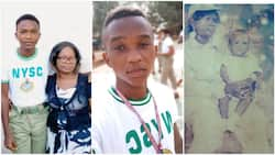 Young man shares throwback photo of mum in NYSC uniform, he's now a corps member 21 years after