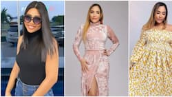 Sister wives: Regina Daniels' co-wife Laila models beautiful dresses from her collection