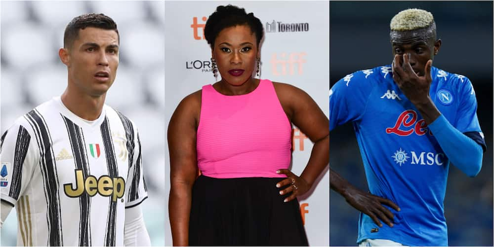 Super Eagles star responds to Nigerian actress message who wants Ronaldo to qualify for UCL ahead of his club