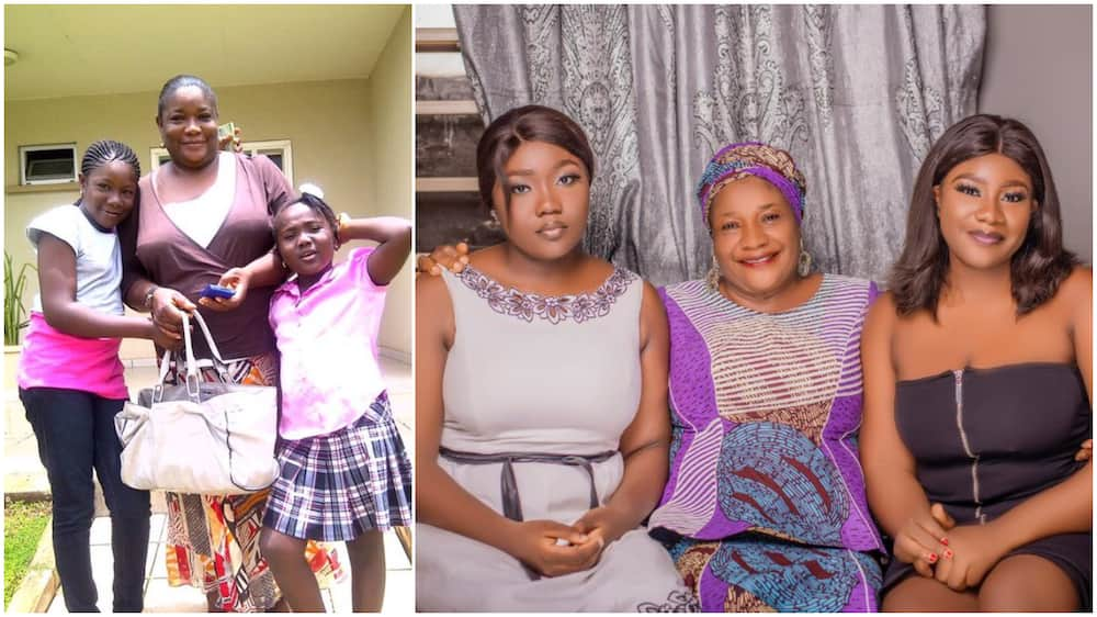 Lady shares photos taken with her mother 10 years ago, stirs reactions