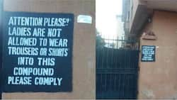 Deeper Life landlord in Enugu pastes notice, warns against wearing trousers in his house (photos)
