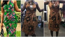 Lady laments after seeing the style a tailor sewed for her roommate compared to what she ordered (photos)