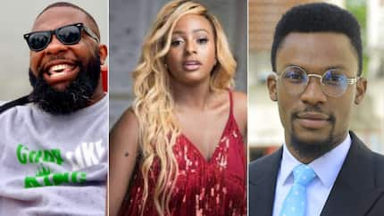 Music is not your forte - Controversial IG personality Oyemykke tells DJ Cuppy, TV host Hero Daniels reacts