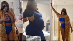 I'm a snack: Davido's sister flaunts banging body as she marks daughter's birthday with pregnant photo