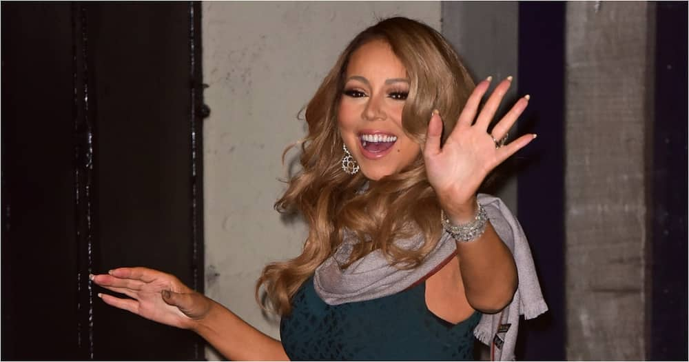 Mariah Carey appears to shade Trump on his last day