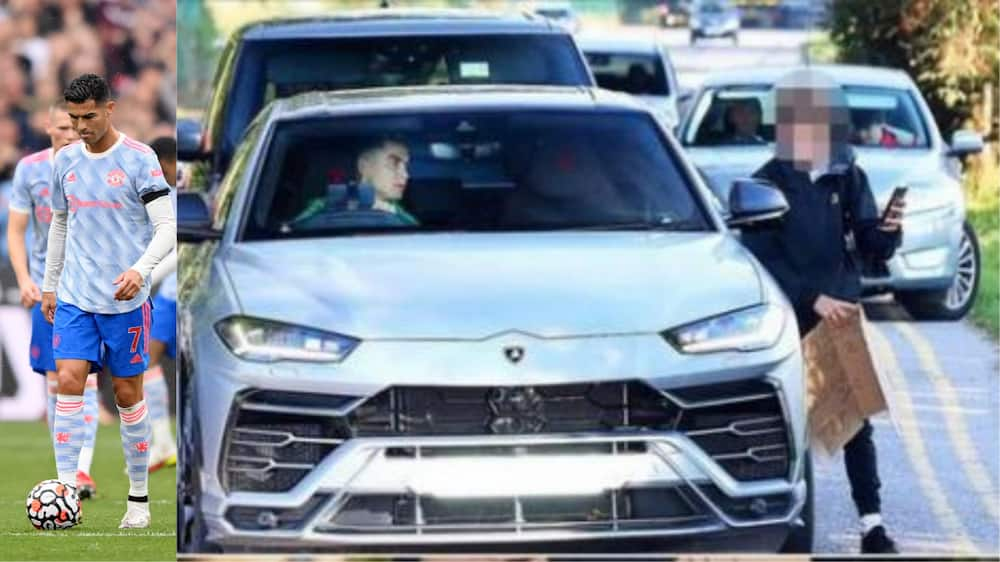 Cristiano Ronaldo stops over to greet Manchester United fan