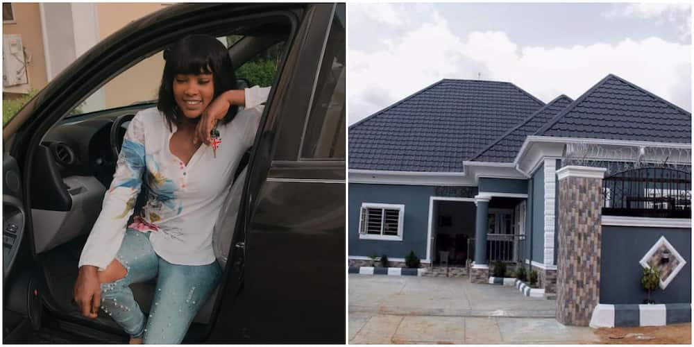 Actress Nelly Edet builds a house for her father (photos)