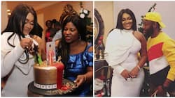 Actress Mercy Aigbe's friends host her to a birthday dinner in Los Angeles (photos, videos)