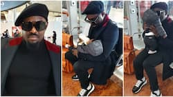 Jim Iyke recounts emotional moment he shed tears while parting with his son at airport