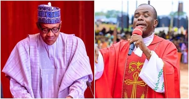 Holy scandal as presidency reveals how Father Mbaka allegedly begged Buhari for contracts
