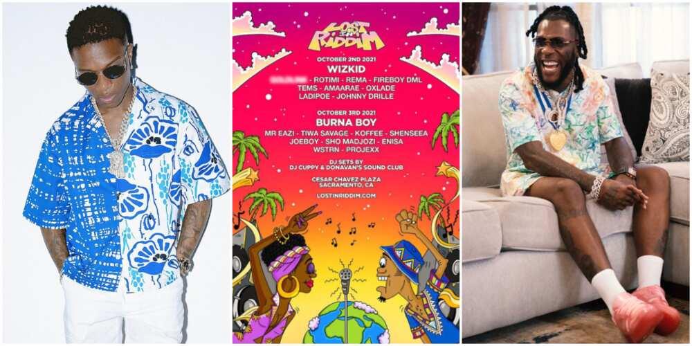 Wizkid and Burna Boy to headline festival in California.