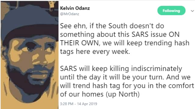 Ajegunle killing: SARS dare not shoot northern youth - Nigerian man reacts
