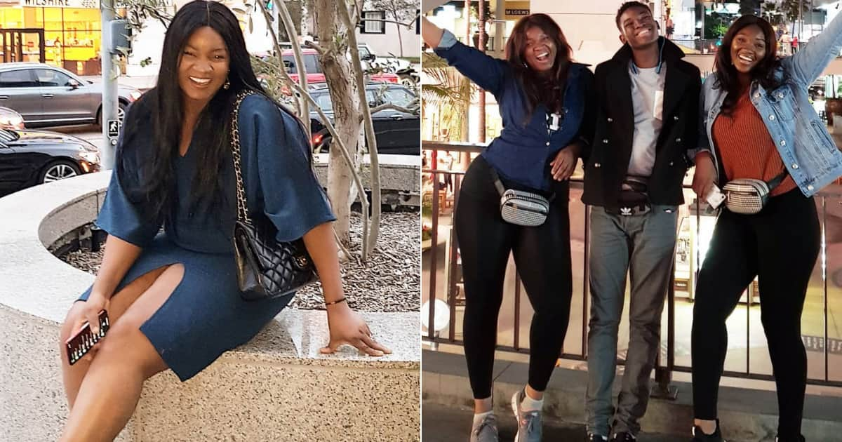 Omotola Jalade Ekeinde shares photos of herself on a fun spree in USA