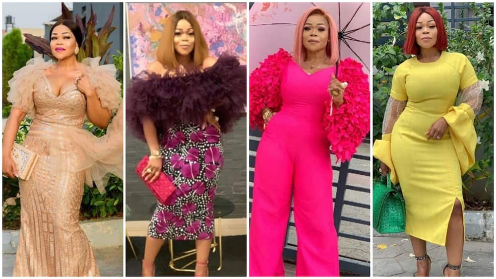 Photos of Nollywood actress Shaffy Bello.