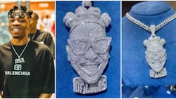Mayor of Lagos: Davido's former signee Mayorkun splurges millions on lookalike diamond pendant, fans react