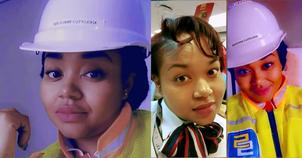 Chasing Dreams: Lady Goes from Being Bank Manager to Construction Student, Many React