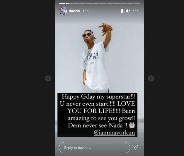 It's Been Amazing To See You Grow: Davido Says as He Celebrates Mayorkun with Touching Words on 27th Birthday