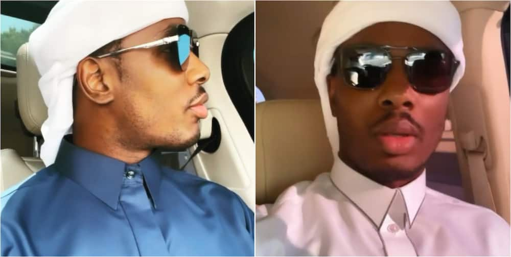 Super Eagles legend Ighalo steps out in Muslim regalia as he is spotted dancing to popular Nigerian song