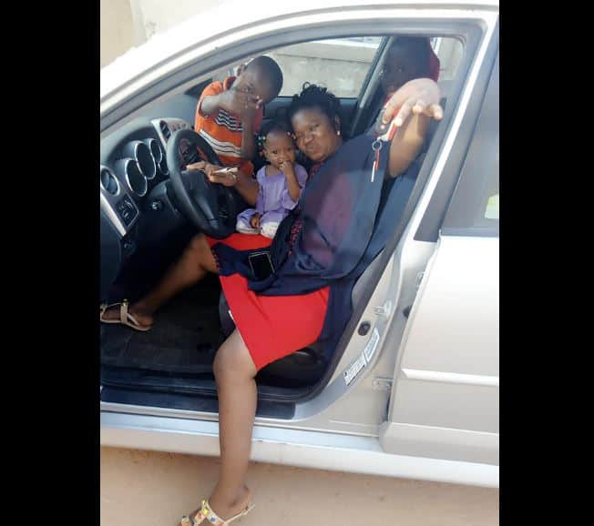 Nigerian woman prays for her husband for buying her a car as new year gift (photo)