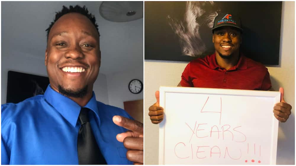 Young Man Celebrates 4 Ywithout alcohol, Rough Life, now CEO of Big US company