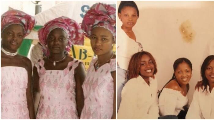 Hilarious reactions as Funke Akindele shares major throwback photos with Uche Jombo, Doris Simeon, others