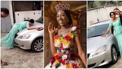 Miss World Nigeria 2018 buys mom N3.5million Lexus, she is 23-year-old (photos, video)