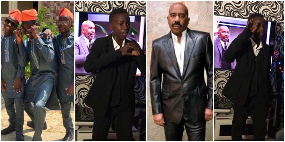 Ikorodu Bois recreate US TV host Steve Harvey's video, Nigerians react (video)