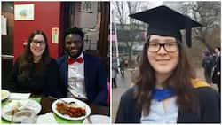 Oyinbo lady wows onlookers on her graduation day, counts numbers in Yoruba language (photo, video)